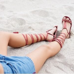 Free People Dahlia leather lace up sandals